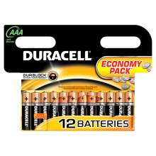 Baterie alcalina DURACELL AAA / R3 blister 12 bucati