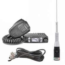 KIT Complet AVANTI Statie Micro 4-8w + Antena Cento + Suport portbagaj cu cablu