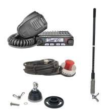 KIT Statie CB Avanti Supremo + Antena Sirio T3 + Adaptor DV-PL Sirio-Mag + Suport Portbagaj Avanti cu Cablu 5m