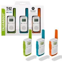 Statie Radio ( Walkie Talkie ) Motorola TALKABOUT T42 TRIPLE PACK set cu 3 buc