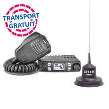 Kit Statie CB Avanti Micro 4-8w ASQ si RF Gain + Antena Avanti Carera 90 cm cu magnet inclus