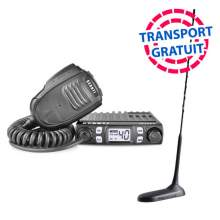 Kit Statie CB Avanti Micro 4-8w ASQ si RF Gain + Antena President Virginia cu magnet, 49cm