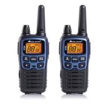 Statie Radio PMR (Walkie Talkie) Midland XT60 set cu 2 buc, albastru metalic